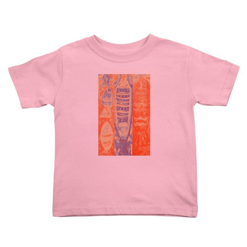 FISH BATIK Kids Toddler T-Shirt by designsbydana's Artist Shop