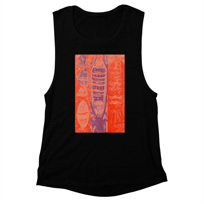 FISH BATIK Women's Muscle Tank by designsbydana's Artist Shop