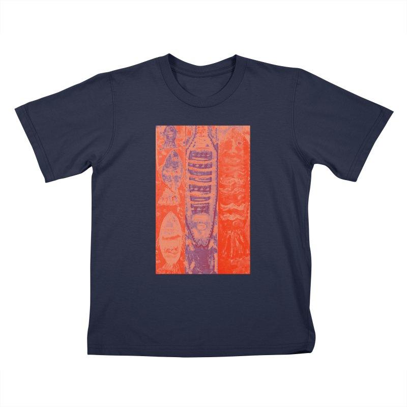 FISH BATIK Kids T-Shirt by designsbydana's Artist Shop