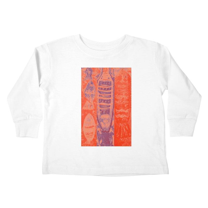 FISH BATIK Kids Toddler Longsleeve T-Shirt by designsbydana's Artist Shop