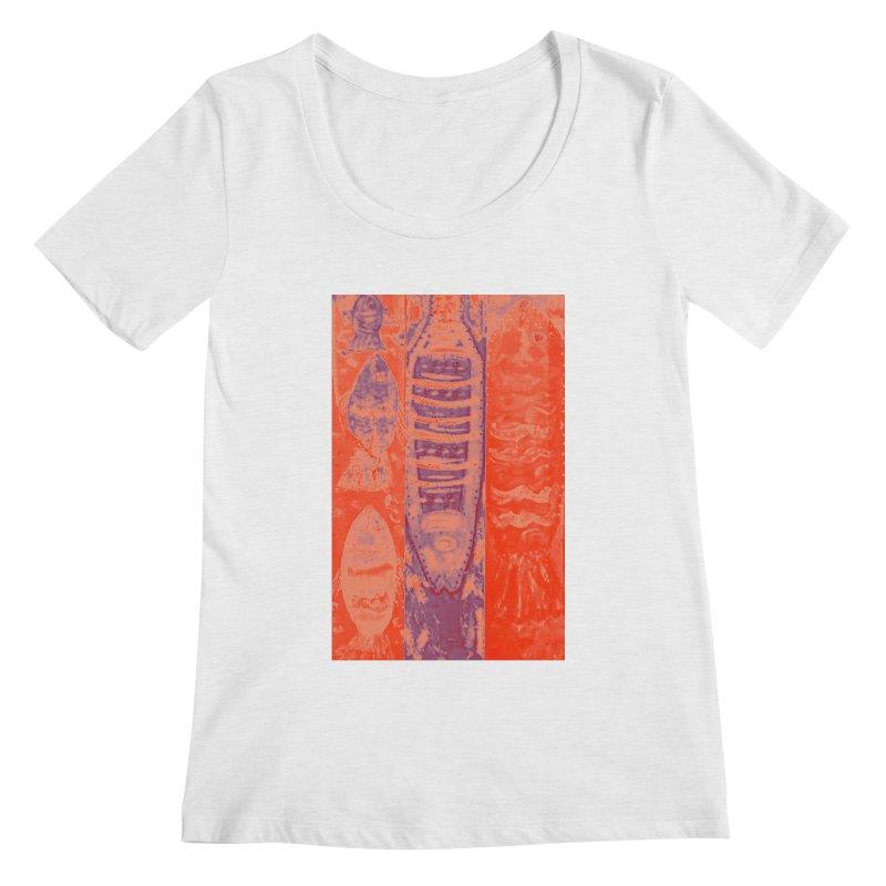 FISH BATIK Women's Regular Scoop Neck by designsbydana's Artist Shop