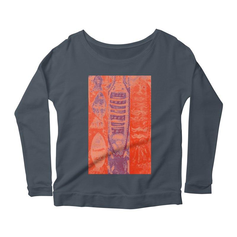 FISH BATIK Women's Scoop Neck Longsleeve T-Shirt by designsbydana's Artist Shop