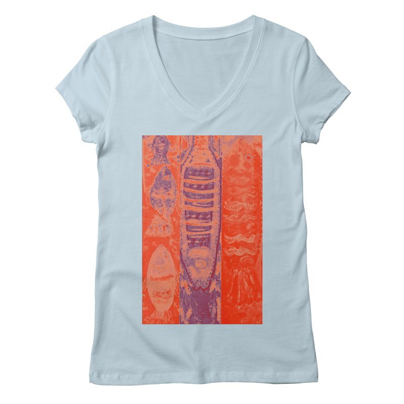 FISH BATIK Women's Regular V-Neck by designsbydana's Artist Shop