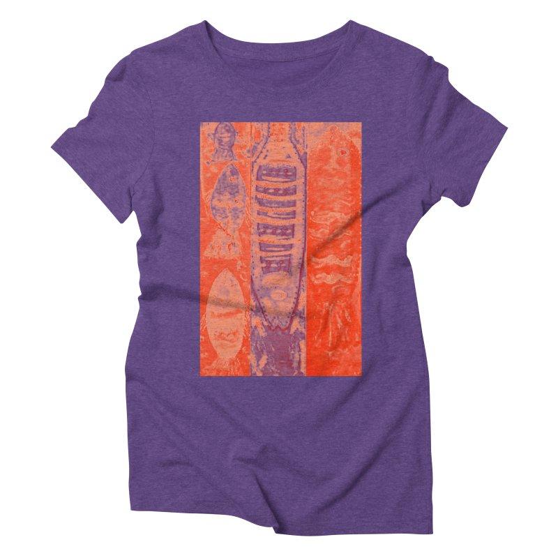 FISH BATIK Women's Triblend T-Shirt by designsbydana's Artist Shop
