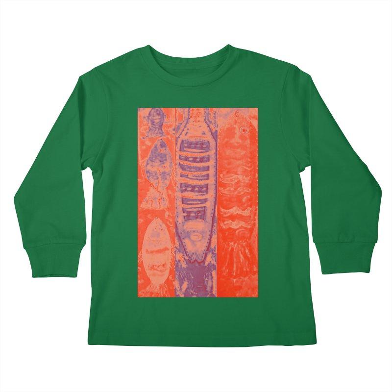 FISH BATIK Kids Longsleeve T-Shirt by designsbydana's Artist Shop