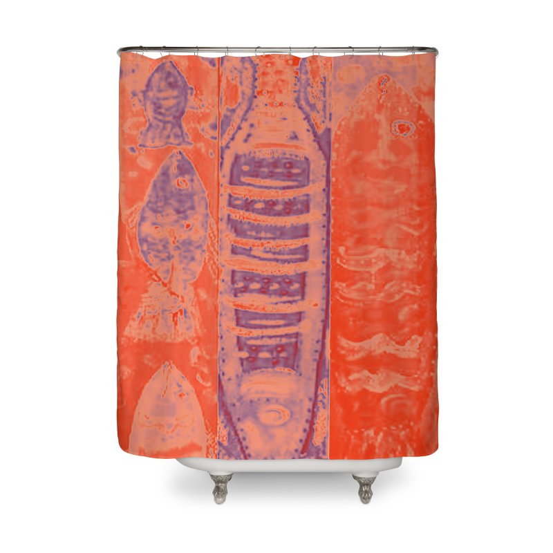FISH BATIK Home Shower Curtain by designsbydana's Artist Shop
