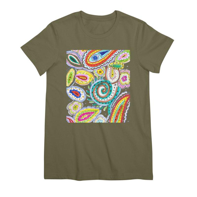WILD Women's Premium T-Shirt by designsbydana's Artist Shop