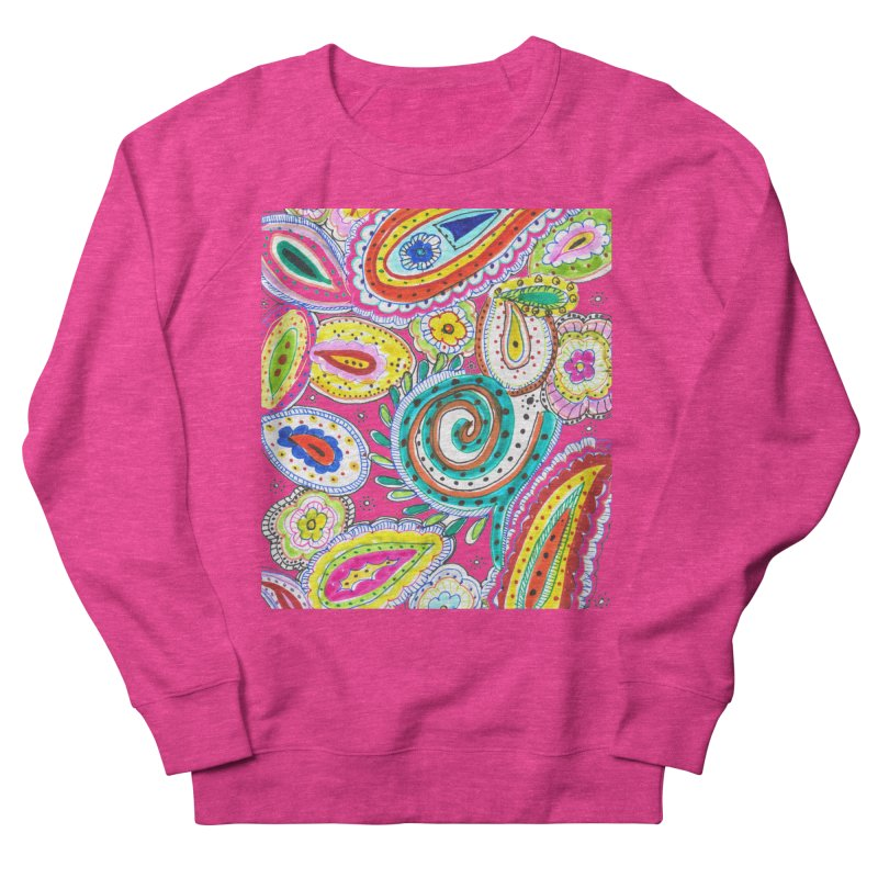 WILD Women's French Terry Sweatshirt by designsbydana's Artist Shop
