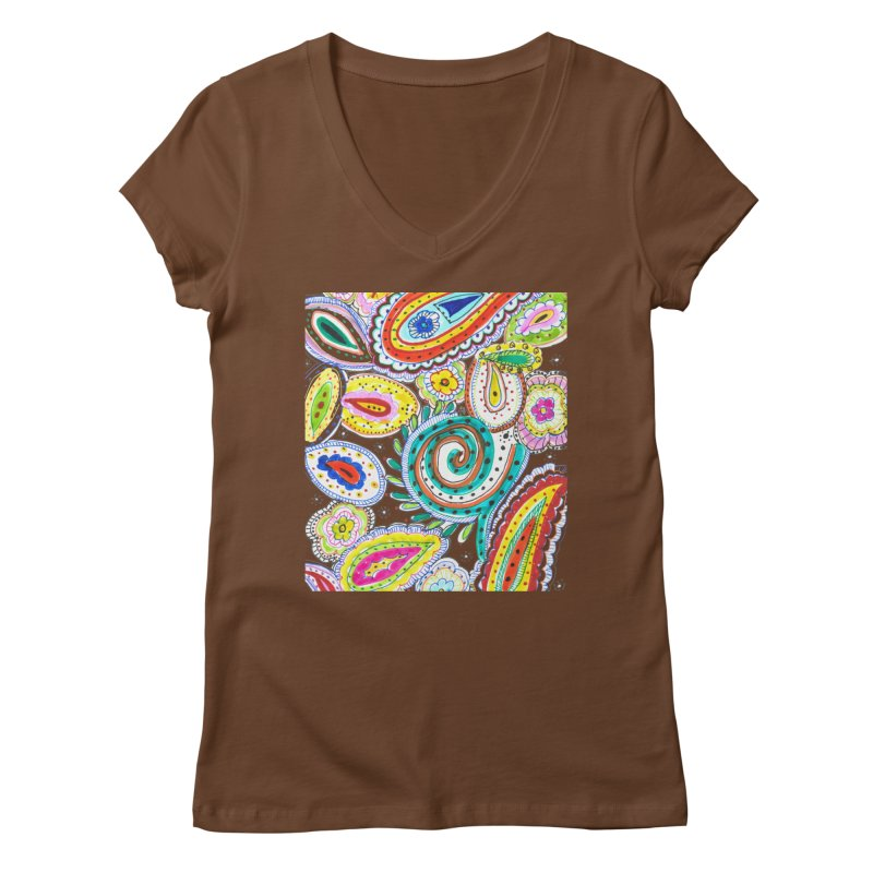 WILD Women's Regular V-Neck by designsbydana's Artist Shop