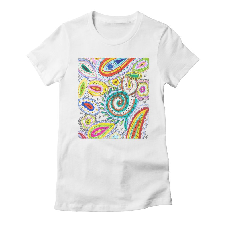 WILD Women's Fitted T-Shirt by designsbydana's Artist Shop