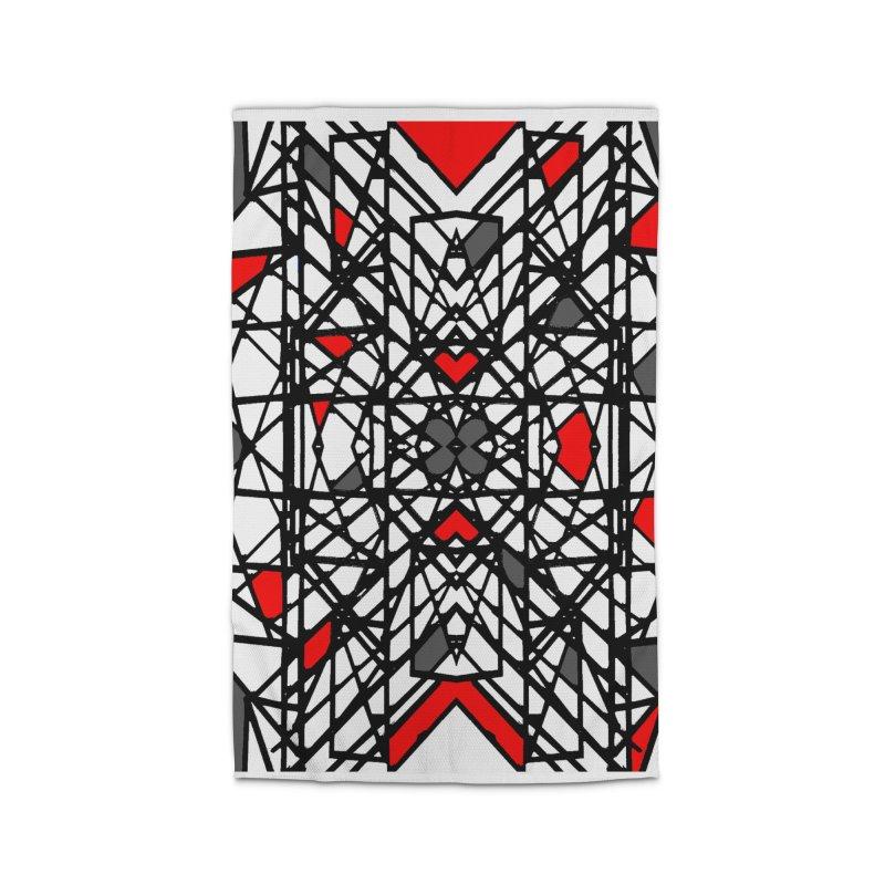 BLACK/RED GEO Home Rug by designsbydana's Artist Shop