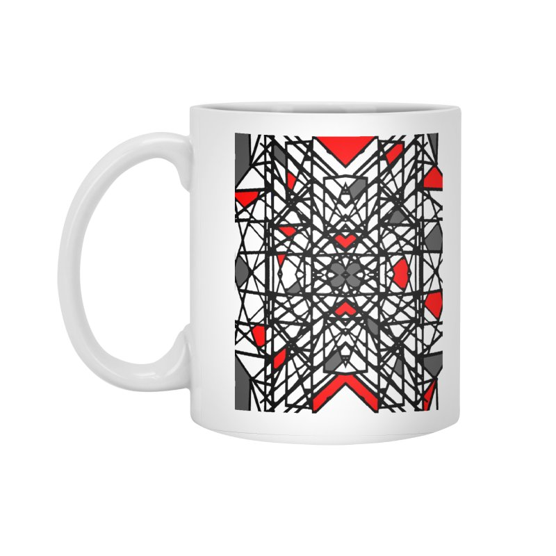 BLACK/RED GEO Accessories Standard Mug by designsbydana's Artist Shop