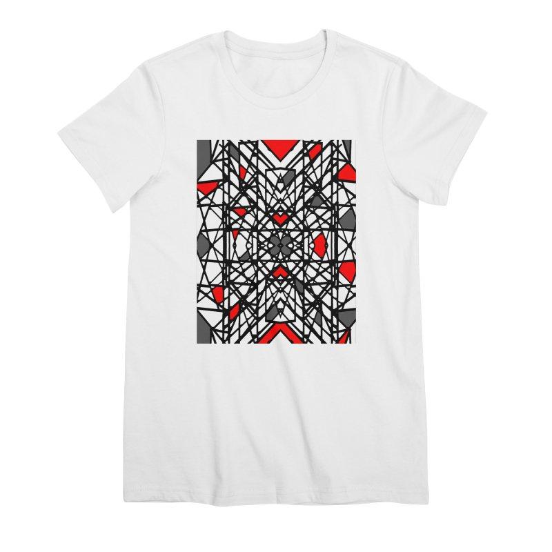 BLACK/RED GEO Women's Premium T-Shirt by designsbydana's Artist Shop