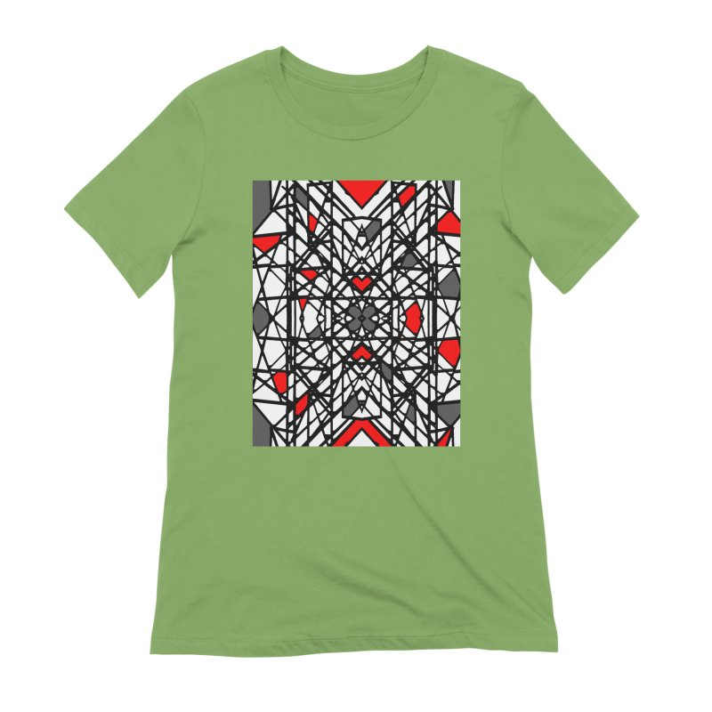 BLACK/RED GEO Women's Extra Soft T-Shirt by designsbydana's Artist Shop