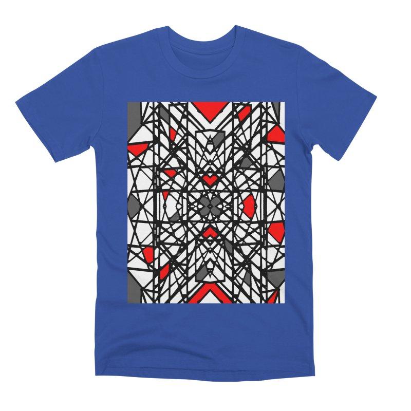 BLACK/RED GEO Men's Premium T-Shirt by designsbydana's Artist Shop