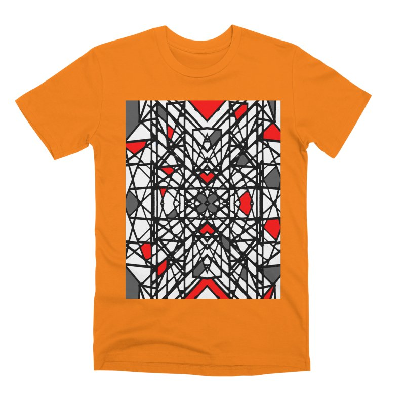 BLACK/RED GEO Men's T-Shirt by designsbydana's Artist Shop