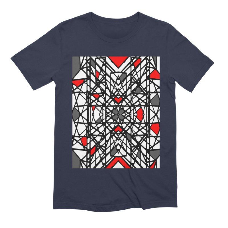 BLACK/RED GEO Men's Extra Soft T-Shirt by designsbydana's Artist Shop
