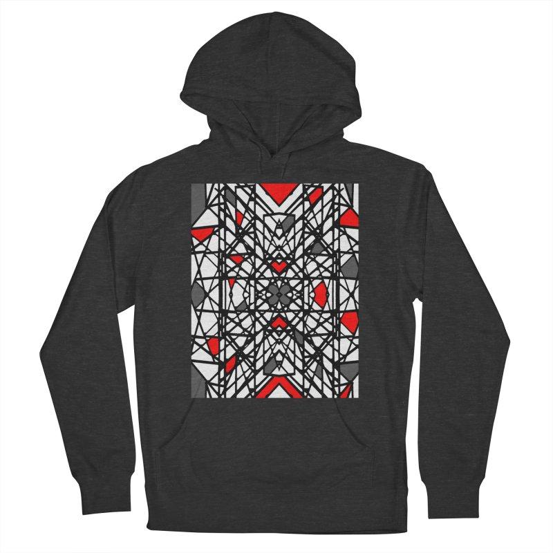 BLACK/RED GEO Women's Pullover Hoody by designsbydana's Artist Shop