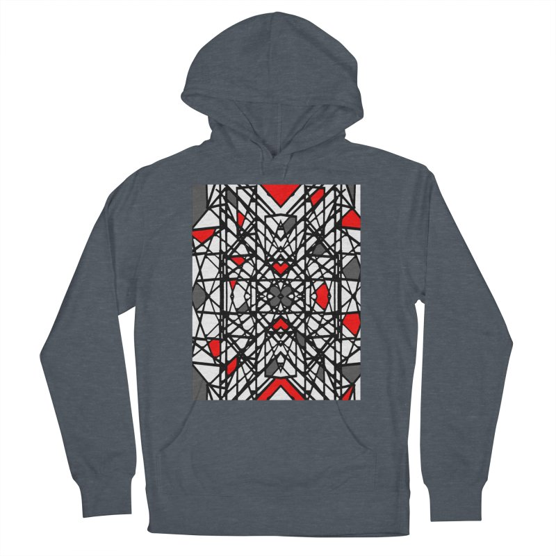 BLACK/RED GEO Women's Pullover Hoody by designsbydana's Artist Shop