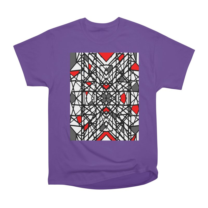 BLACK/RED GEO Women's Heavyweight Unisex T-Shirt by designsbydana's Artist Shop