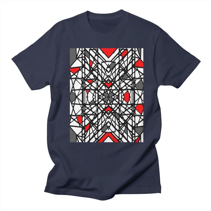 BLACK/RED GEO Women's Regular Unisex T-Shirt by designsbydana's Artist Shop