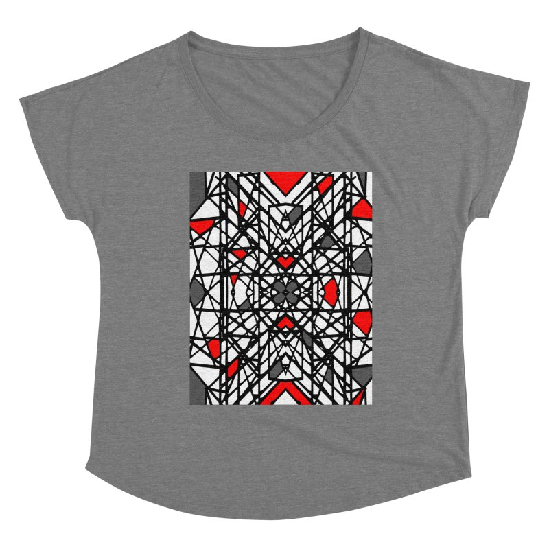 BLACK/RED GEO Women's Scoop Neck by designsbydana's Artist Shop