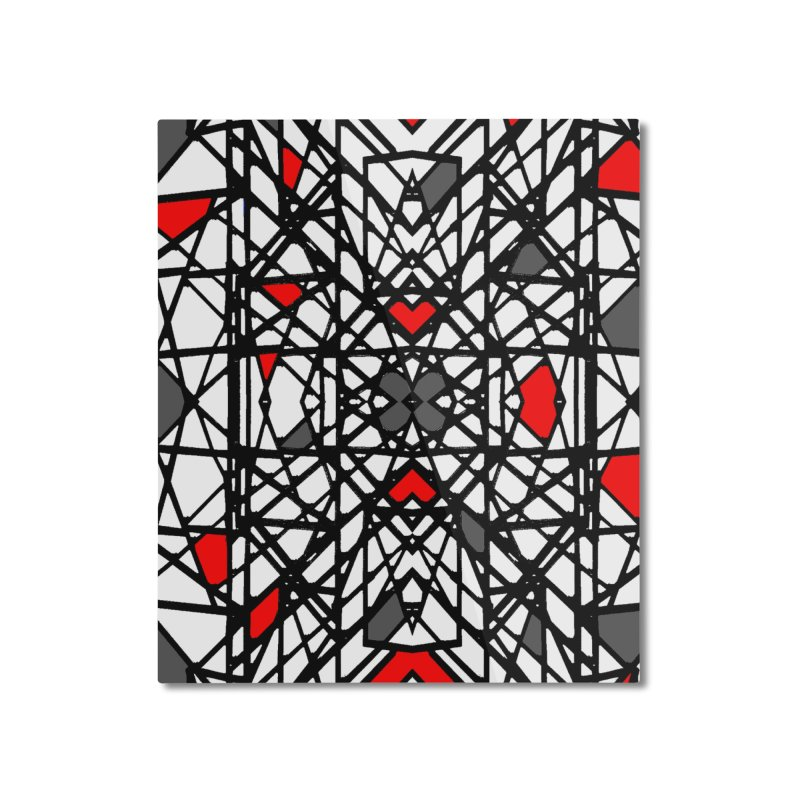 BLACK/RED GEO Home Mounted Aluminum Print by designsbydana's Artist Shop