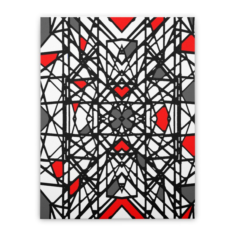 BLACK/RED GEO Home Stretched Canvas by designsbydana's Artist Shop