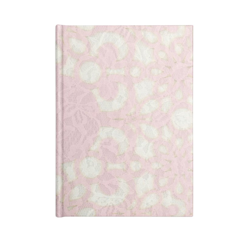 PINK LACE Accessories Lined Journal Notebook by designsbydana's Artist Shop