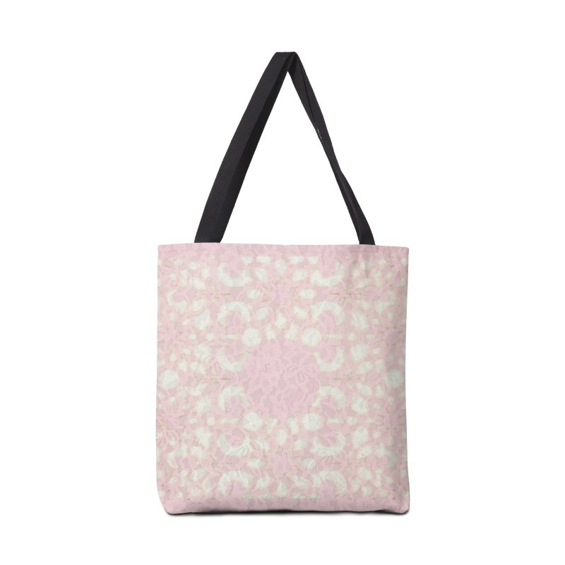 PINK LACE Accessories Tote Bag Bag by designsbydana's Artist Shop