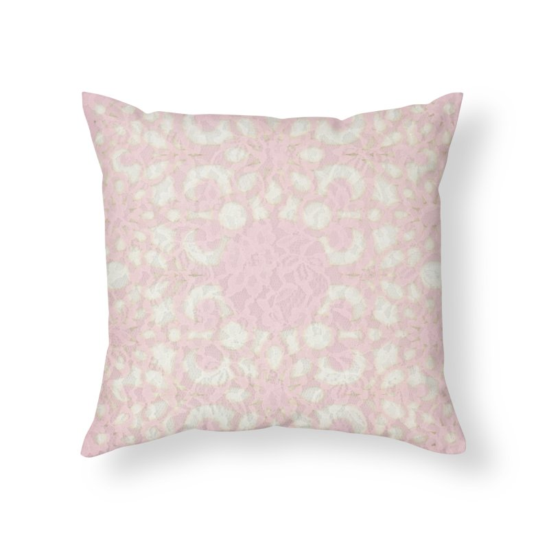 PINK LACE Home Throw Pillow by designsbydana's Artist Shop