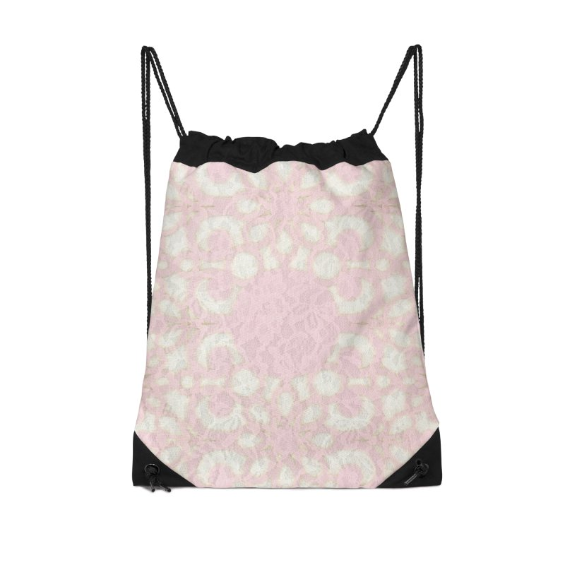 PINK LACE Accessories Drawstring Bag Bag by designsbydana's Artist Shop