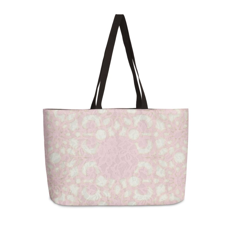 PINK LACE Accessories Weekender Bag Bag by designsbydana's Artist Shop