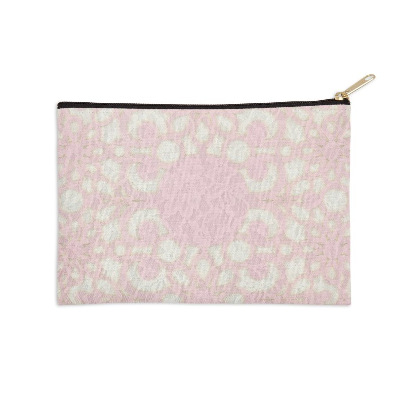 PINK LACE Accessories Zip Pouch by designsbydana's Artist Shop