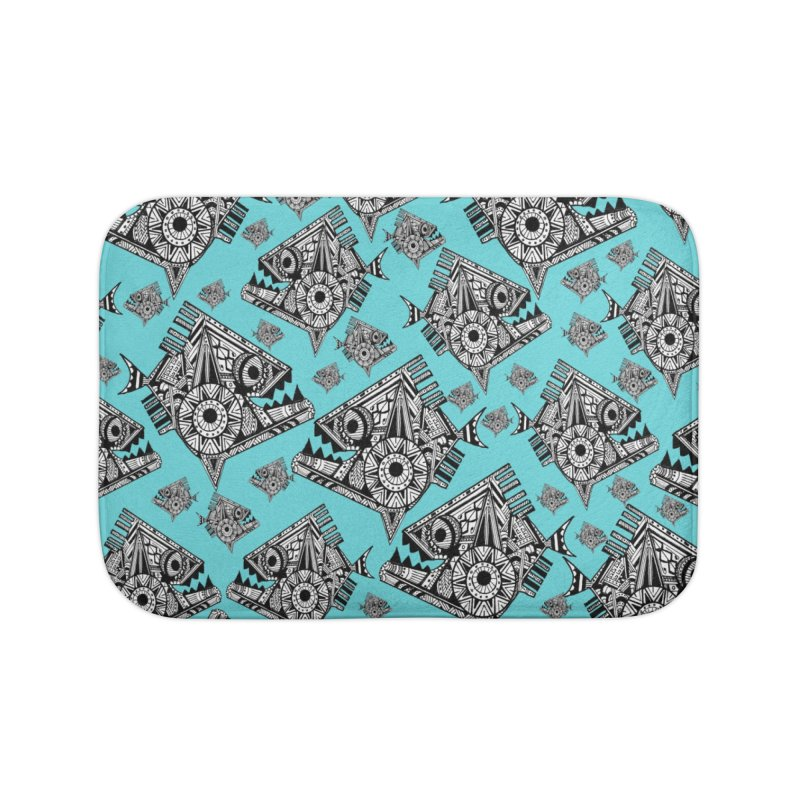 AQUA PIRANA Home Bath Mat by designsbydana's Artist Shop
