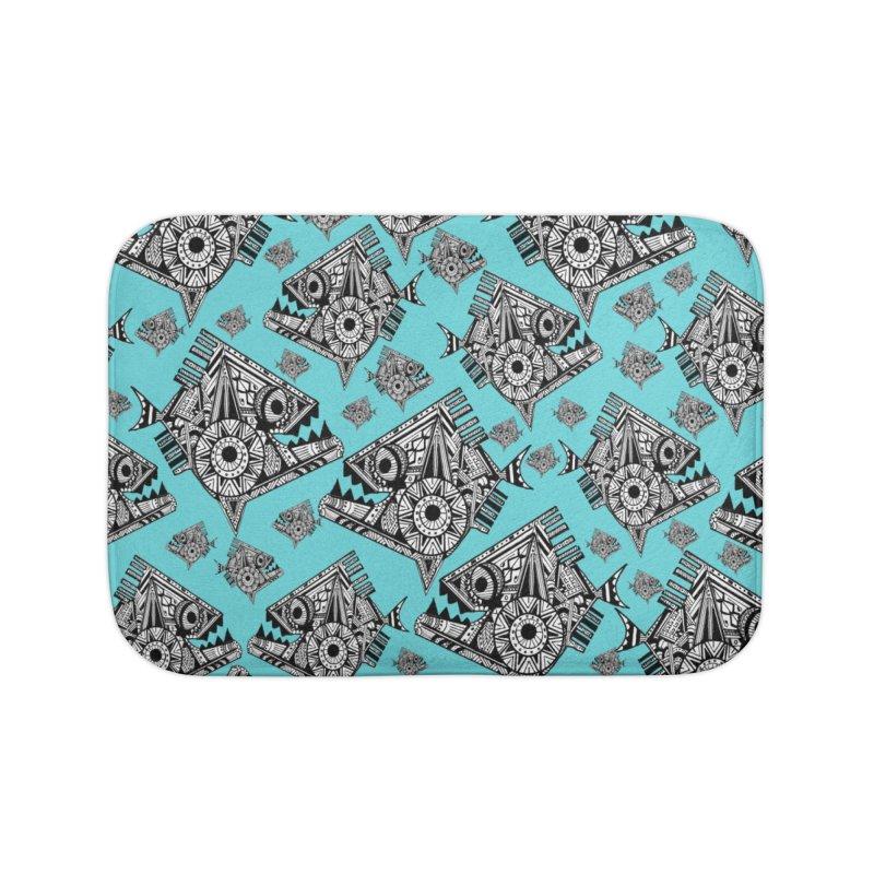 AQUA PIRANA Home Bath Mat by designsbydana's Artist Shop