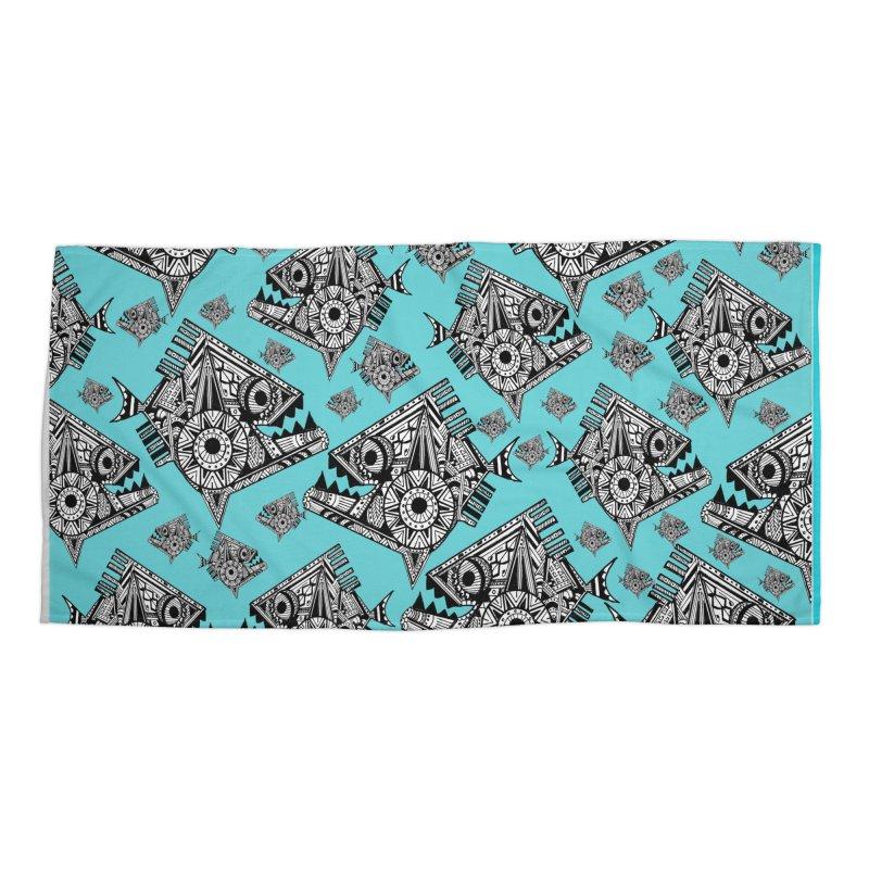 AQUA PIRANA Accessories Beach Towel by designsbydana's Artist Shop