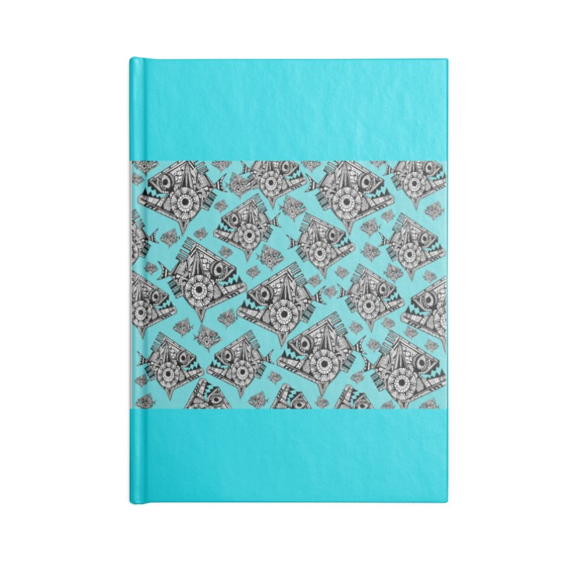 AQUA PIRANA Accessories Lined Journal Notebook by designsbydana's Artist Shop