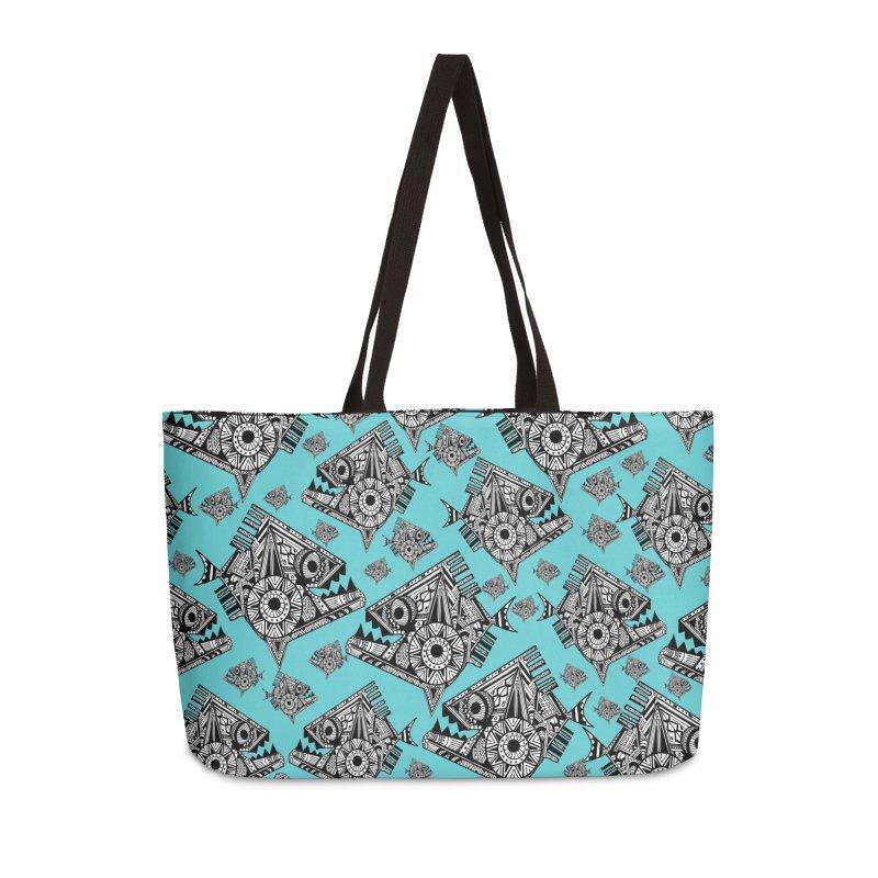 AQUA PIRANA Accessories Weekender Bag Bag by designsbydana's Artist Shop