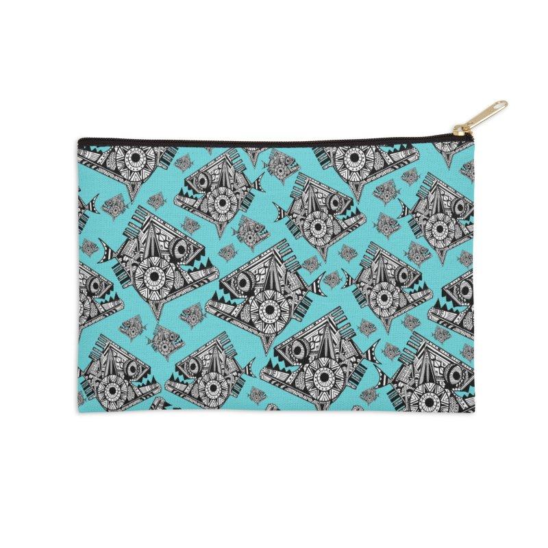 AQUA PIRANA Accessories Zip Pouch by designsbydana's Artist Shop