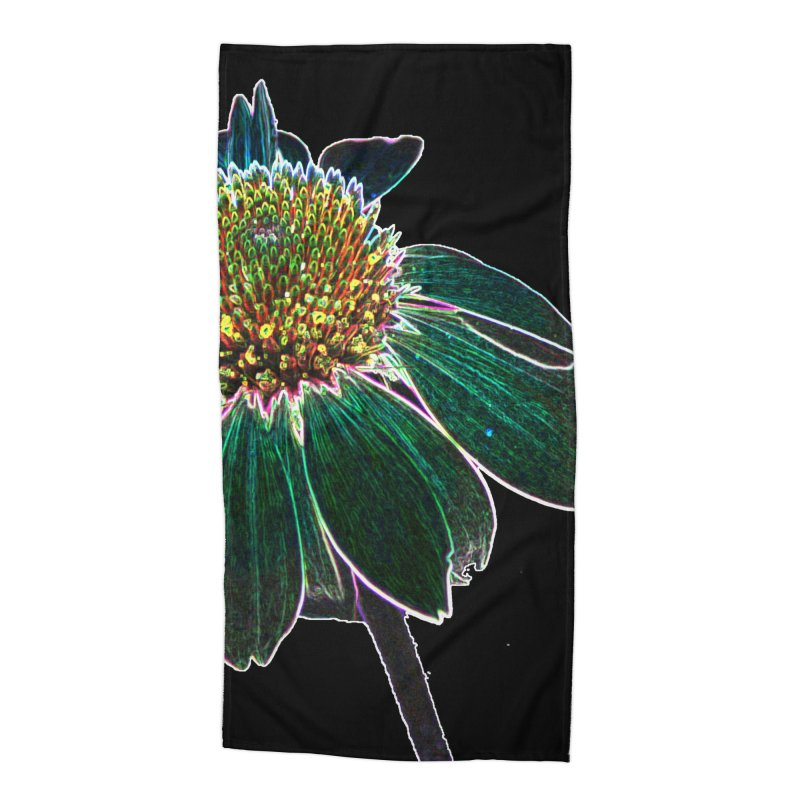 Glowing Bloom Accessories Beach Towel by designsbydana's Artist Shop