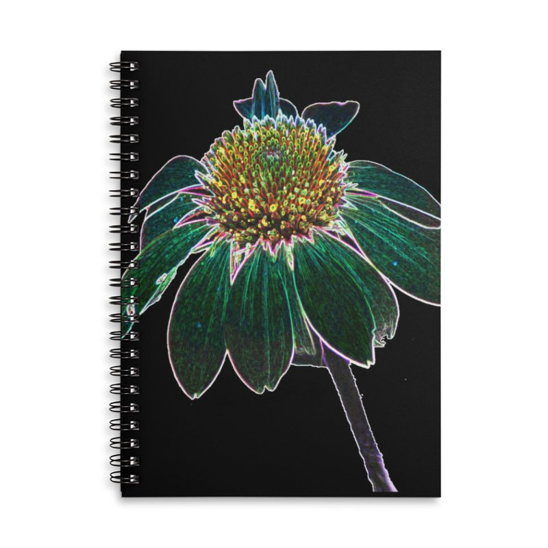 Glowing Bloom Accessories Lined Spiral Notebook by designsbydana's Artist Shop