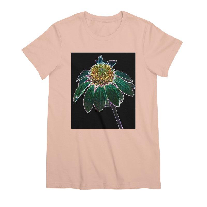 Glowing Bloom Women's Premium T-Shirt by designsbydana's Artist Shop