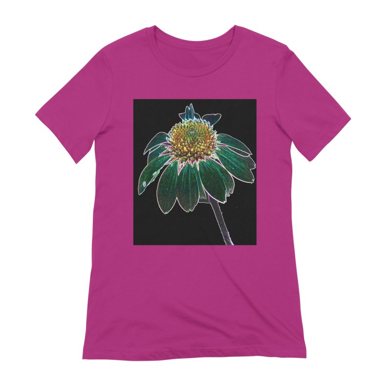 Glowing Bloom Women's Extra Soft T-Shirt by designsbydana's Artist Shop