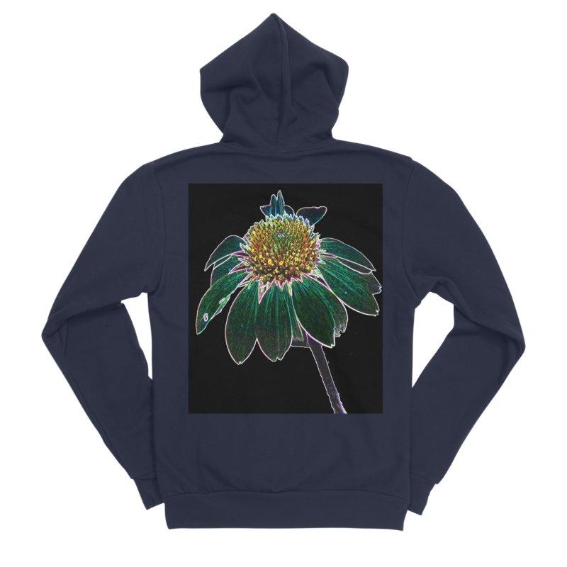 Glowing Bloom Women's Sponge Fleece Zip-Up Hoody by designsbydana's Artist Shop