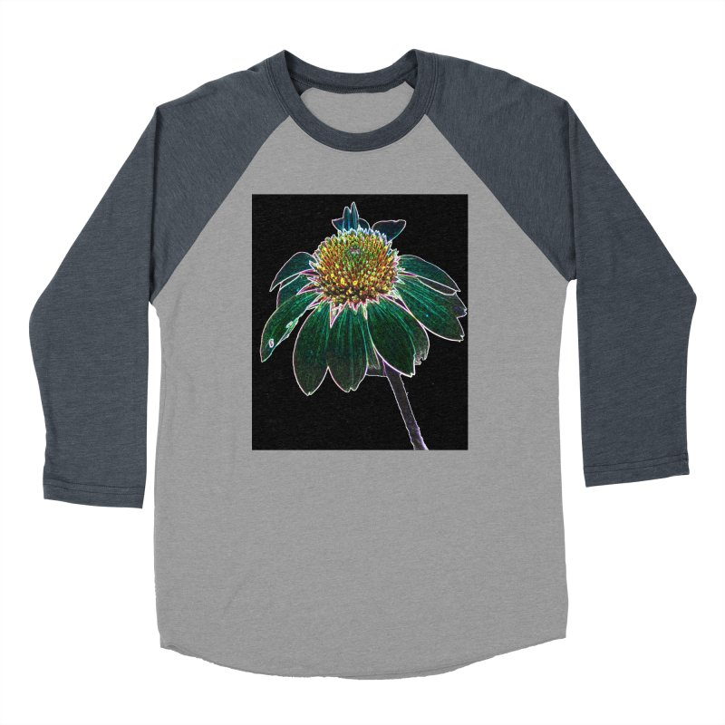 Glowing Bloom Women's Baseball Triblend Longsleeve T-Shirt by designsbydana's Artist Shop