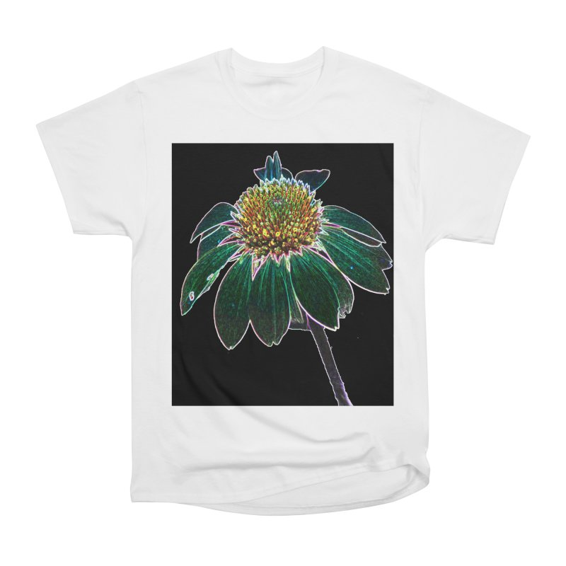 Glowing Bloom Women's Heavyweight Unisex T-Shirt by designsbydana's Artist Shop