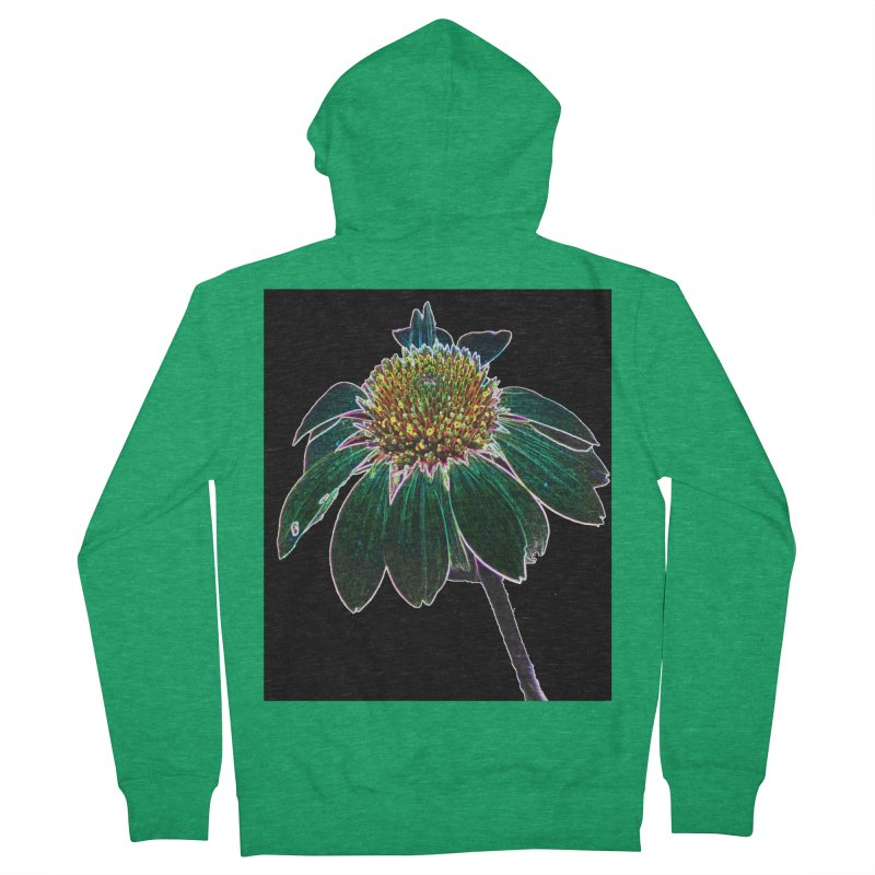 Glowing Bloom Women's Zip-Up Hoody by designsbydana's Artist Shop