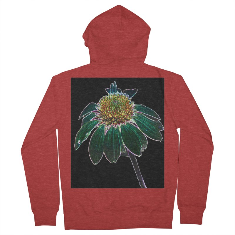 Glowing Bloom Women's French Terry Zip-Up Hoody by designsbydana's Artist Shop