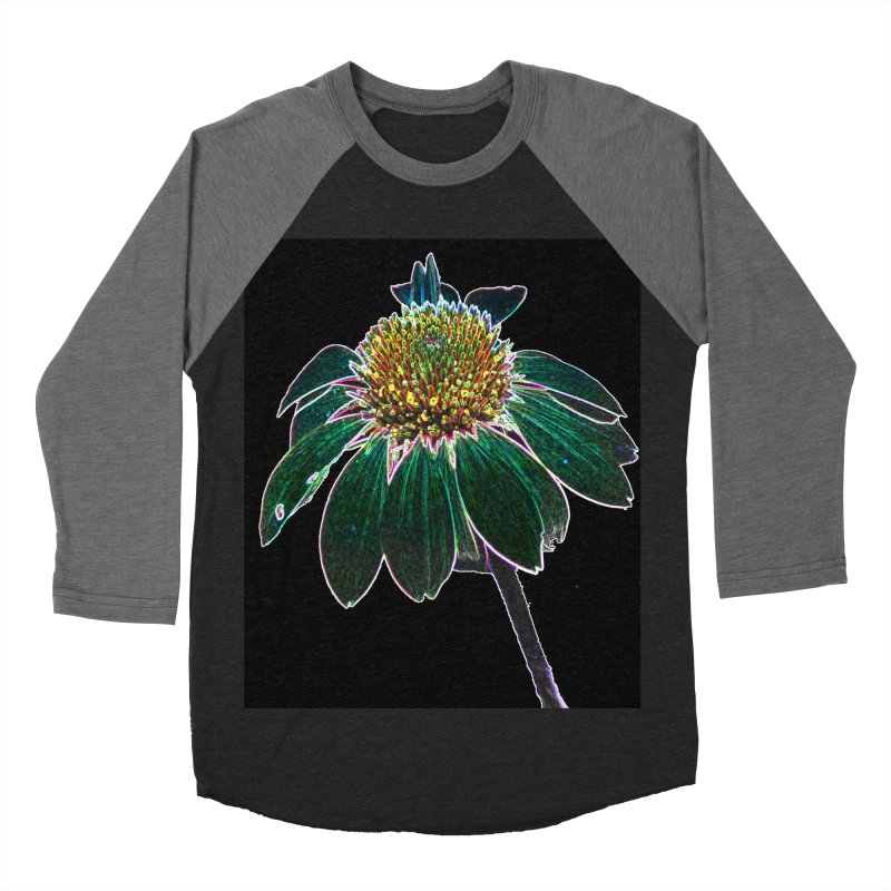 Glowing Bloom Women's Baseball Triblend Longsleeve T-Shirt by designsbydana's Artist Shop